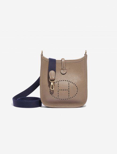 Hermès Evelyne 16 Clemence Etoupe Brown, Natural Front | Sell your designer bag on Saclab.com