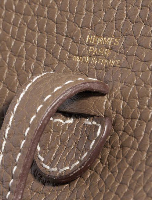 Hermès Evelyne 16 Clemence Etoupe Brown, Natural Logo | Sell your designer bag on Saclab.com