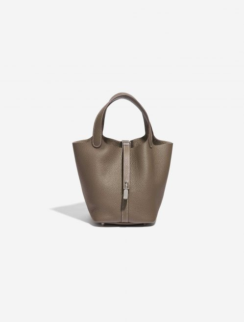 Hermès Picotin 18 Taurillon Clemence Etoupe Brown, Gray Front | Sell your designer bag on Saclab.com