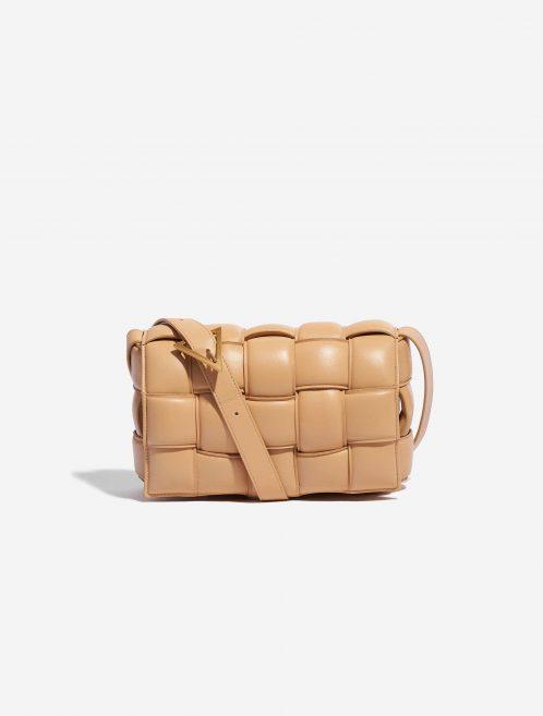 Bottega Veneta Cassette Lamb Nude Natural Front | Sell your designer bag on Saclab.com