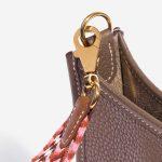 Hermès Shoulder Strap Canvas Rose Confetti / Rouge H / Blanc / Gold Multicolour Detail | Sell your designer bag on Saclab.com