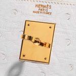 Hermès Kelly 32 Ostrich Blanc White Closing System | Sell your designer bag on Saclab.com