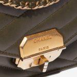 Chanel Gabrielle Flap Bag Medium Lamb Green