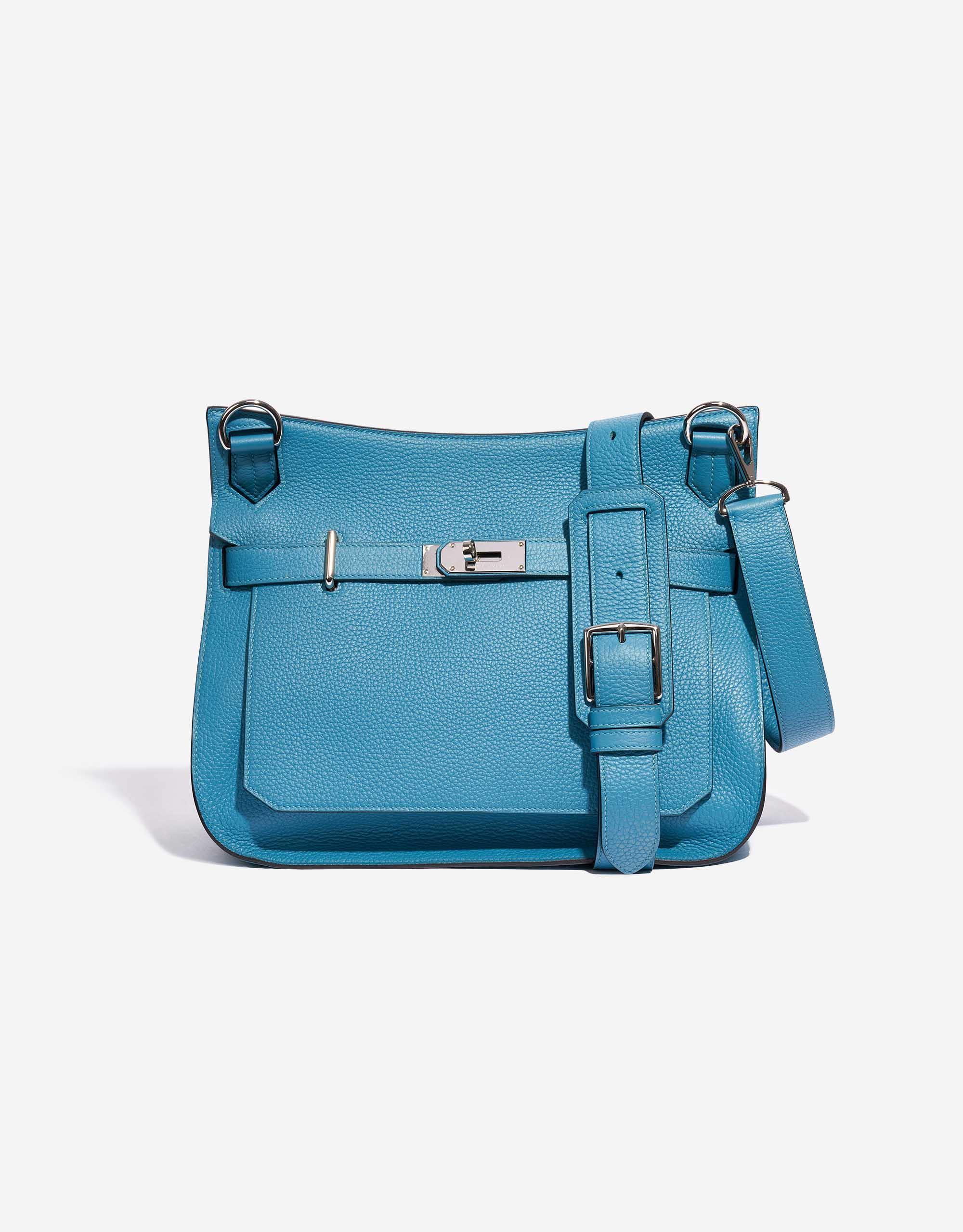 Hermès Jypsiere 34 Taurillon Clemence Turquoise | SACLÀB