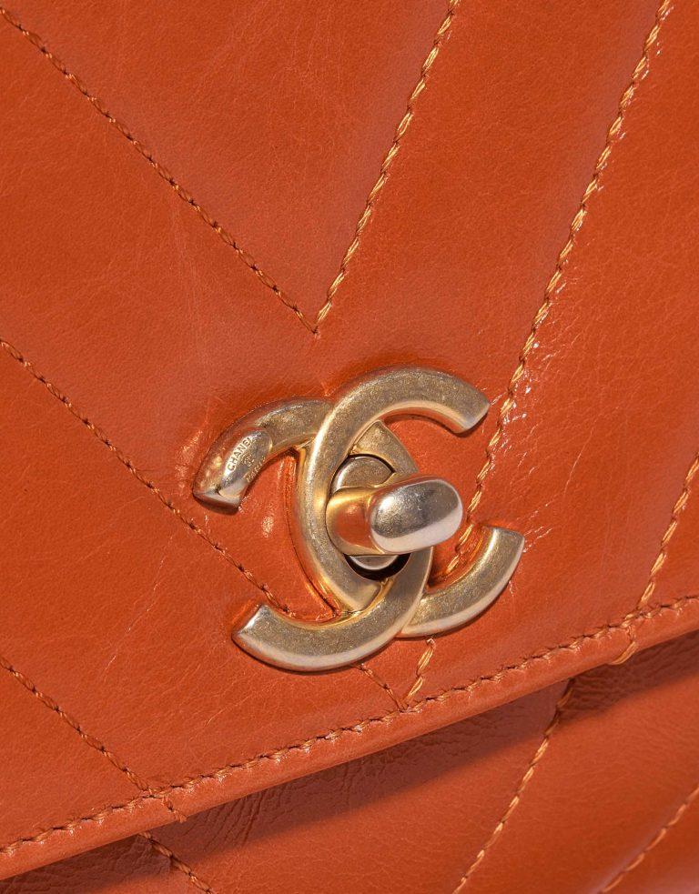 Chanel Handle Small Calf Orange