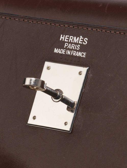 Hermès Kelly 35 Box Chocolate / Cyclamen