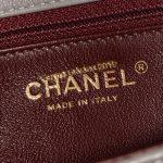 Chanel Timeless Small Lamb Grey / Bordeaux
