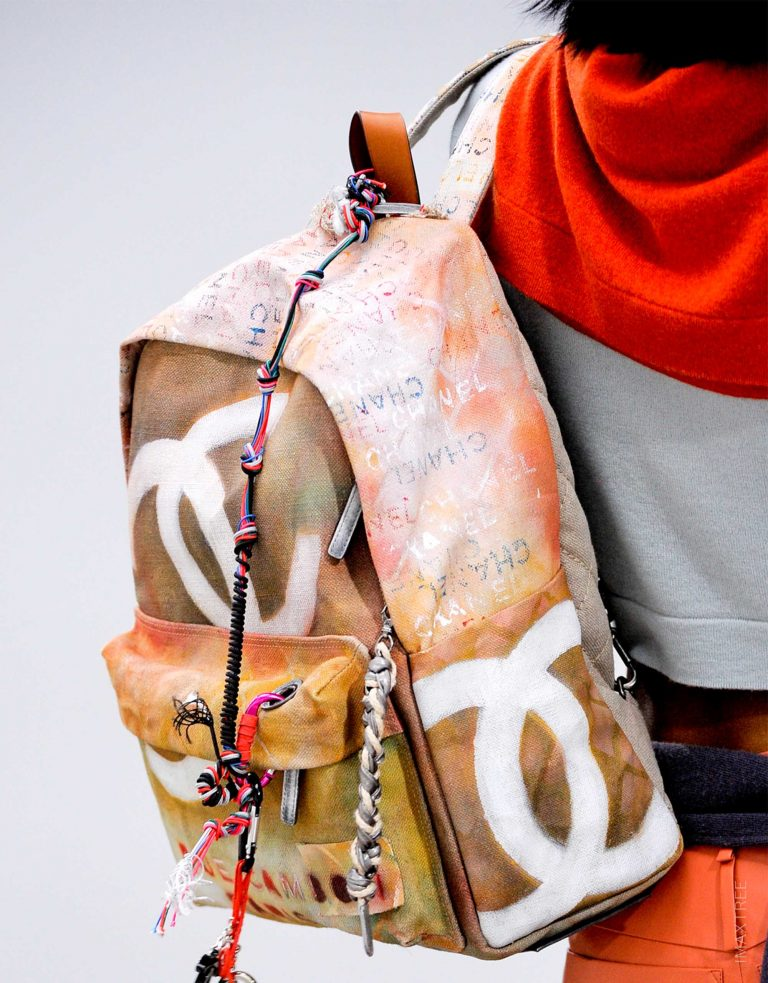 Chanel Graffiti Canvas Backpack Spring/Summer 2015 | pre-loved luxury bags SACLÀB