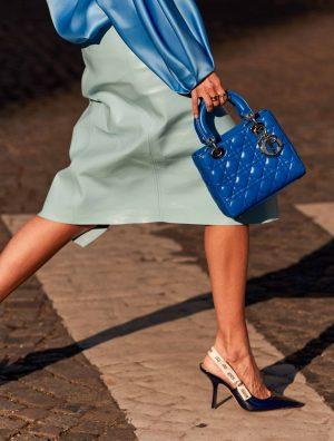 Dior blue Lady Dior Bag