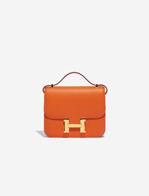 Hermès Constance 18 Epsom Feu Orange Front | Sell your designer bag on Saclab.com