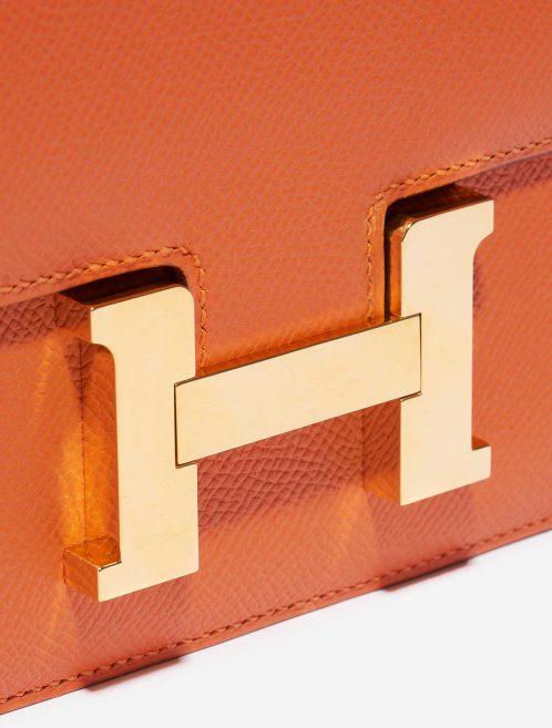 Hermès Constance 18 Epsom Feu Orange Closing System | Sell your designer bag on Saclab.com