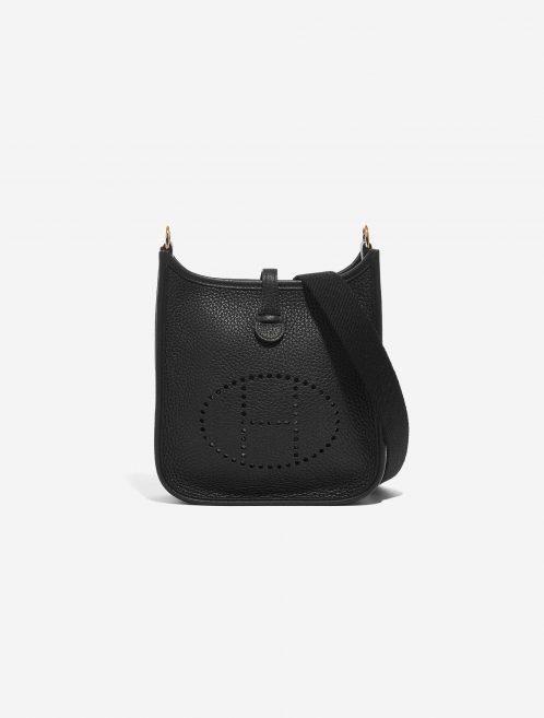 Hermès Evelyne 16 Taurillon Clemence Black Black Front | Sell your designer bag on Saclab.com