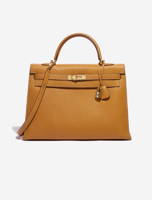 Hermès Kelly 35 Ardennes Moutarde Yellow Front   Sell your designer bag on Saclab.com