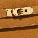 Hermès Kelly 35 Ardennes Moutarde Yellow Closing System | Sell your designer bag on Saclab.com