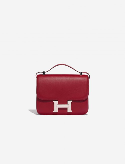Hermès Constance 24 Swift Rubis Red Front | Sell your designer bag on Saclab.com