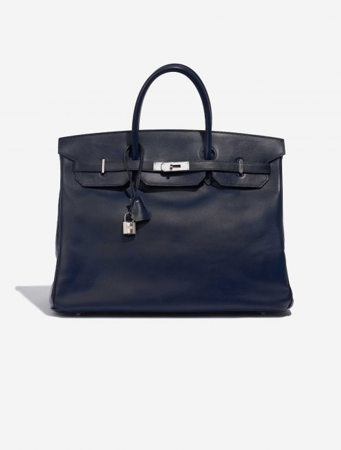 Hermès Birkin 40 Swift Blue Royale Blue Front | Sell your designer bag on Saclab.com