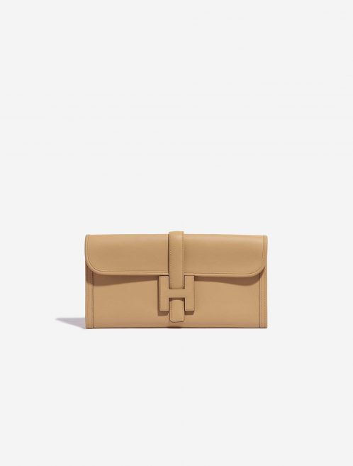 Hermès Jige Clutch Swift Tabac Brown Front   Sell your designer bag on Saclab.com