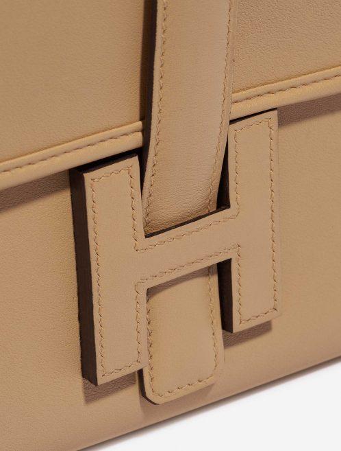 Hermès Jige Clutch Swift Tabac Brown Closing System   Sell your designer bag on Saclab.com
