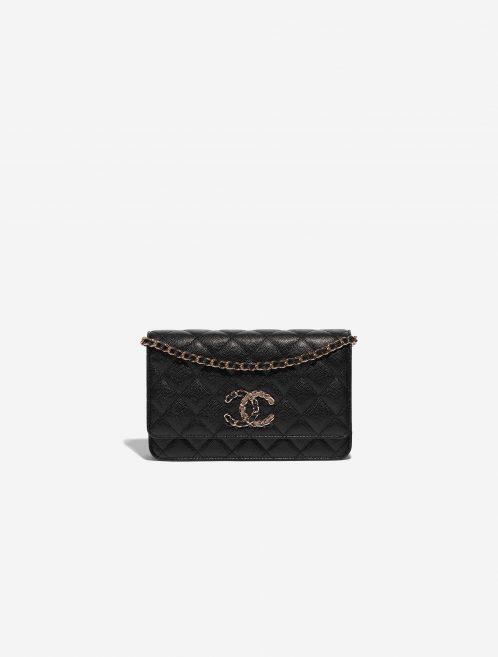 Chanel WOC Caviar Black Black Front | Sell your designer bag on Saclab.com