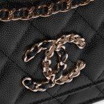 Chanel WOC Caviar Black Black Closing System   Sell your designer bag on Saclab.com