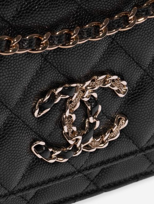 Chanel WOC Caviar Black Black Closing System | Sell your designer bag on Saclab.com