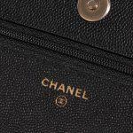 Chanel WOC Caviar Black Black Logo   Sell your designer bag on Saclab.com