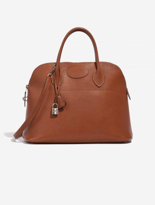 Hermès Bolide 35 Evercolor Gold Brown Front   Sell your designer bag on Saclab.com