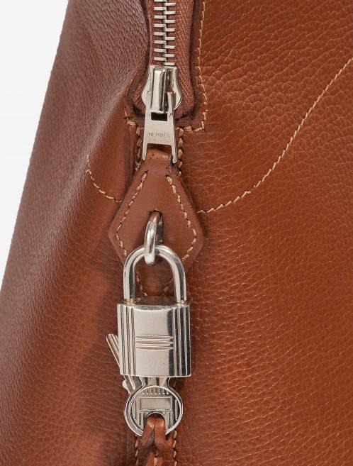 Hermès Bolide 35 Evercolor Gold Brown Detail   Sell your designer bag on Saclab.com