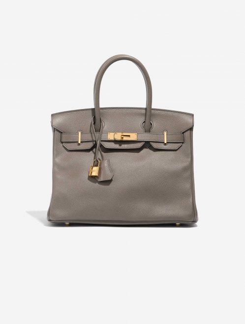 Hermès Birkin 30 Epsom Étain Brown, Gray Front | Sell your designer bag on Saclab.com