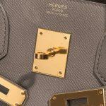 Hermès Birkin 30 Epsom Étain Brown, Gray Logo   Sell your designer bag on Saclab.com