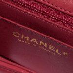 Chanel Timeless Mini Rectangular Lamb Raspberry Rose, Pink, Red Logo | Sell your designer bag on Saclab.com