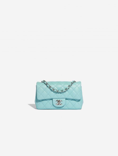 Chanel Timeless Mini Rectangular Lamb Tiffany Blue Blue, Turquoise Front | Sell your designer bag on Saclab.com