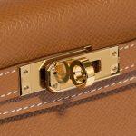 Hermès Kelly Mini Epsom Gold Brown Closing System   Sell your designer bag on Saclab.com