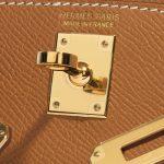 Hermès Kelly Mini Epsom Gold Brown Logo   Sell your designer bag on Saclab.com