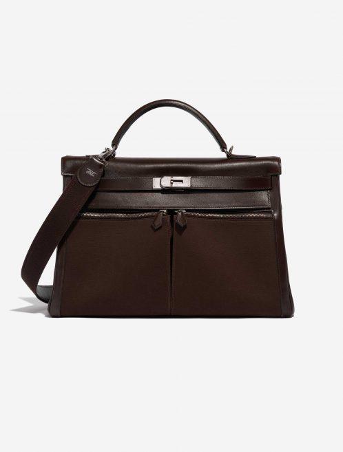 Hermès Kelly Lakis 40 Box Chocolat Brown Front   Sell your designer bag on Saclab.com