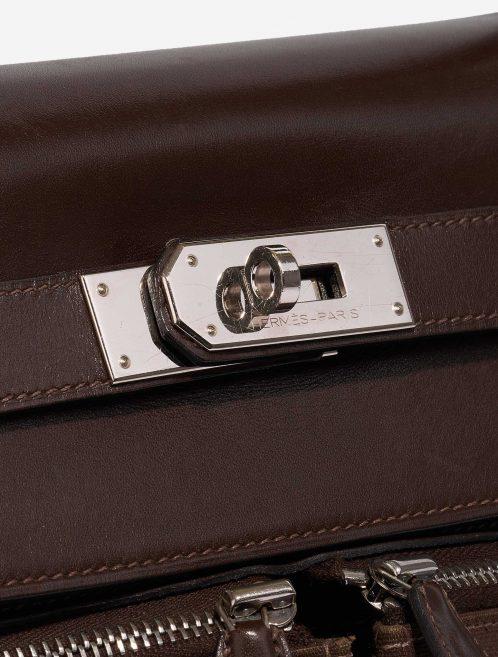 Hermès Kelly Lakis 40 Box Chocolat Brown Closing System   Sell your designer bag on Saclab.com