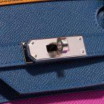 Hermès Birkin 35 Sunset Rainbow Epsom Apricot / Blue Agate / Magnolia / Rouge Casaque Blue, Multicolour, Orange, Pink, Red Closing System   Sell your designer bag on Saclab.com
