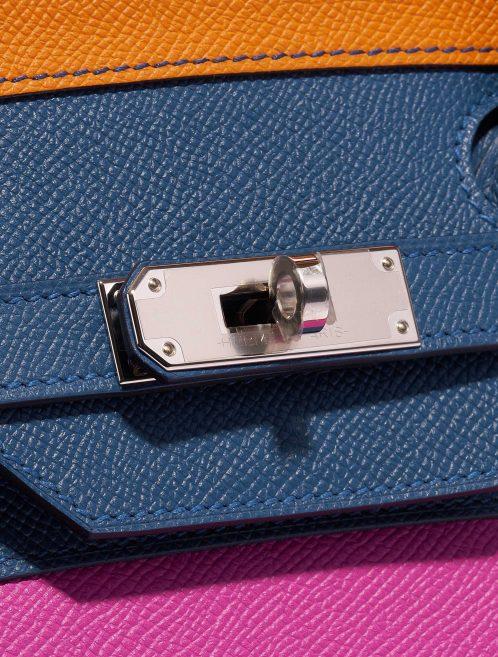 Hermès Birkin 35 Sunset Rainbow Epsom Apricot / Blue Agate / Magnolia / Rouge Casaque Blue, Multicolour, Orange, Pink, Red Closing System | Sell your designer bag on Saclab.com
