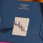 Hermès Birkin 35 Sunset Rainbow Epsom Apricot / Blue Agate / Magnolia / Rouge Casaque Blue, Multicolour, Orange, Pink, Red Logo   Sell your designer bag on Saclab.com