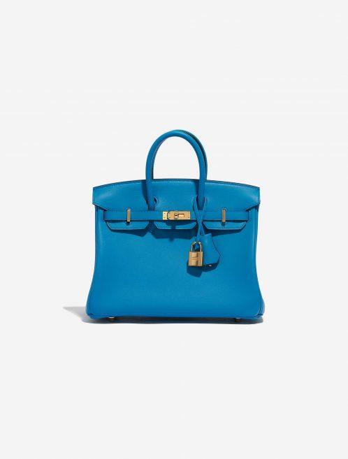 Hermès Birkin 25 Swift Blue Frida Blue Front | Sell your designer bag on Saclab.com