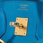 Hermès Birkin 25 Swift Blue Frida Blue Closing System | Sell your designer bag on Saclab.com