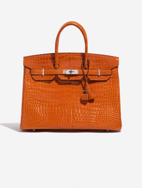 Hermès Birkin 35 Porosus Crocodile Pain d'épice Orange Front | Sell your designer bag on Saclab.com