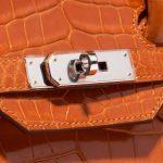Hermès Birkin 35 Porosus Crocodile Pain d'épice Orange Closing System   Sell your designer bag on Saclab.com