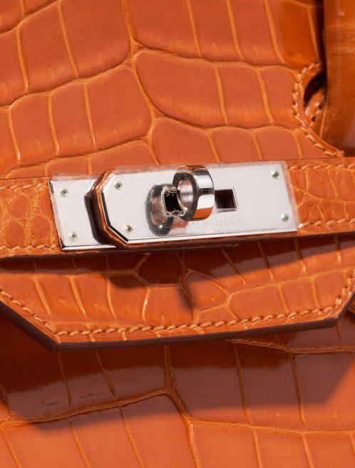 Hermès Birkin 35 Porosus Crocodile Pain d'épice Orange Closing System | Sell your designer bag on Saclab.com