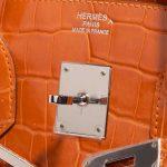 Hermès Birkin 35 Porosus Crocodile Pain d'épice Orange Logo   Sell your designer bag on Saclab.com