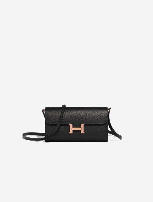 Hermès Constance To Go Epsom Black Black Front | Sell your designer bag on Saclab.com