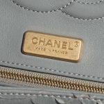 Chanel Timeless Medium Python Grey / Diamonds Gray Logo | Sell your designer bag on Saclab.com