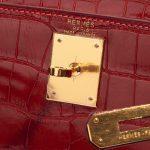 Hermès Kelly 28 Alligator Rouge Vif Red Closing System   Sell your designer bag on Saclab.com