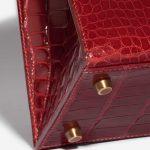 Hermès Kelly 28 Alligator Rouge Vif Red Detail   Sell your designer bag on Saclab.com