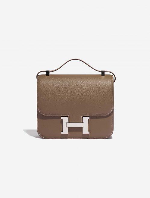 Hermès Constance 24 Epsom Etoupe Brown Front | Sell your designer bag on Saclab.com